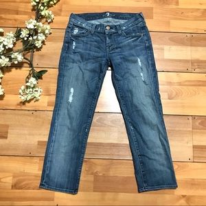 7 FOR ALL MANKIND Slim Straight Leg Jeans Size 25